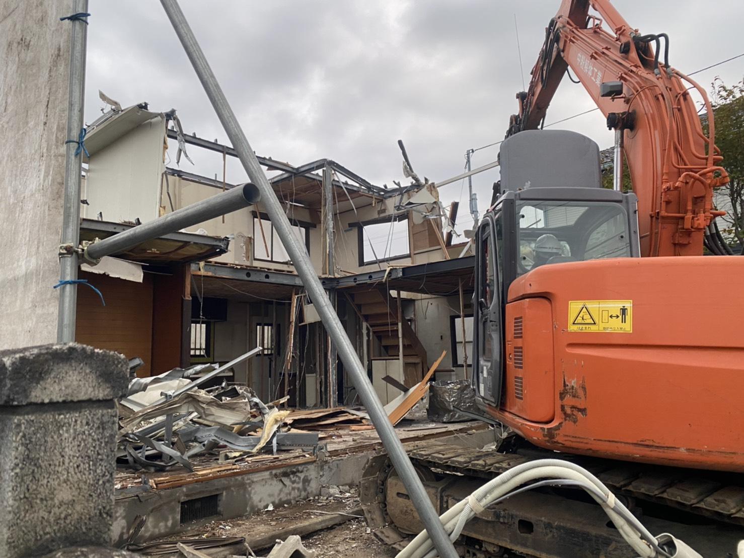 前橋市の木造住宅解体工事